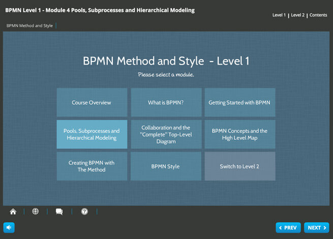 BPMN 2.0 Foundation and Practitioner (level 1 and 2)